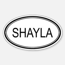 Shayla Oval Design Oval Decal