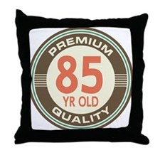 85th Birthday Vintage Throw Pillow