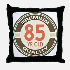 85th Birthday Vintage Throw Pillow