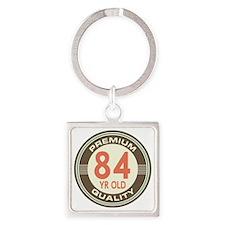 84th Birthday Vintage Square Keychain