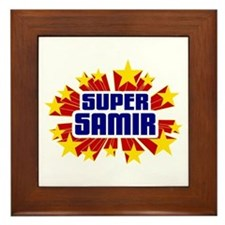 Samir the Super Hero Framed Tile