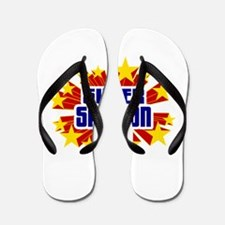 Samson the Super Hero Flip Flops