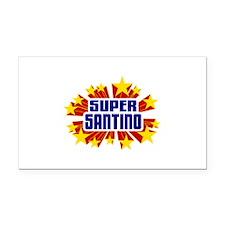 Santino the Super Hero Rectangle Car Magnet