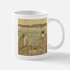 Vintage Japanese Fishing Woodblock Print Mug