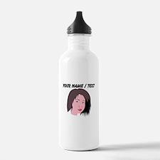 Custom Model Head Shot Water Bottle