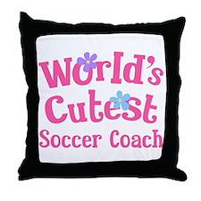 Worlds Cutest Soccer Coach Throw Pillow