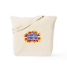 Sebastian the Super Hero Tote Bag