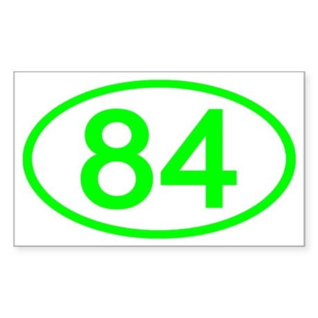 Number 84 Oval Rectangle Sticker