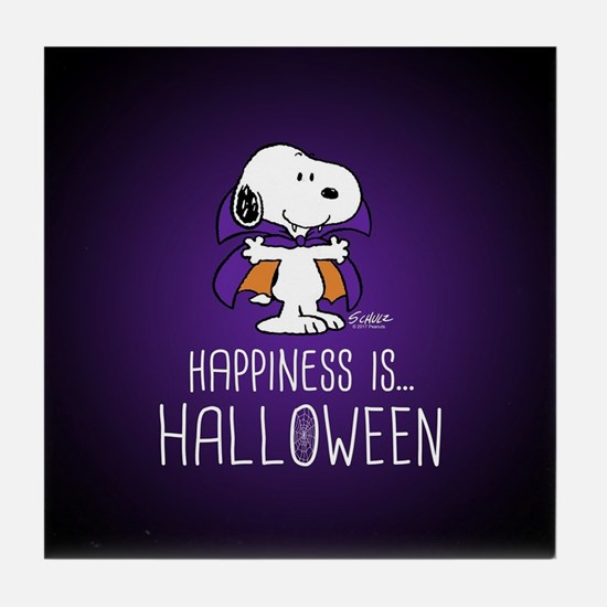 Peanuts Happiness is Halloween Tile Coaster