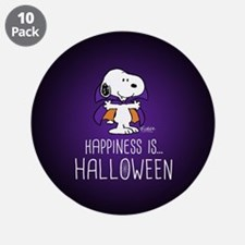 """Peanuts Happiness is Hallowe 3.5"""" Button (10 pack)"""