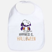 Peanuts Happiness is Halloween Cotton Baby Bib