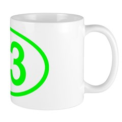 Number 83 Oval Mug