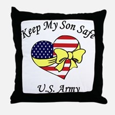 US Army Mom & Dad Keep My Son Safe Throw Pillow