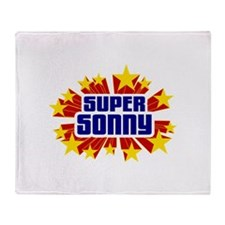 Sonny the Super Hero Throw Blanket