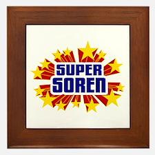 Soren the Super Hero Framed Tile