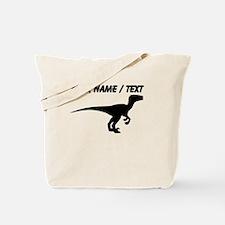 Custom Velociraptor Silhouette Tote Bag