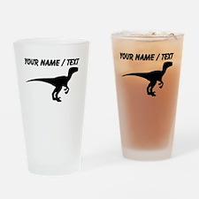 Custom Velociraptor Silhouette Drinking Glass