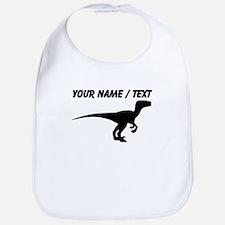 Custom Velociraptor Silhouette Bib
