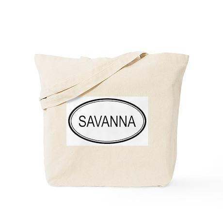 Savanna Oval Design Tote Bag