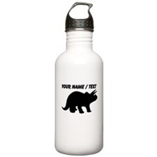 Custom Triceratops Silhouette Water Bottle