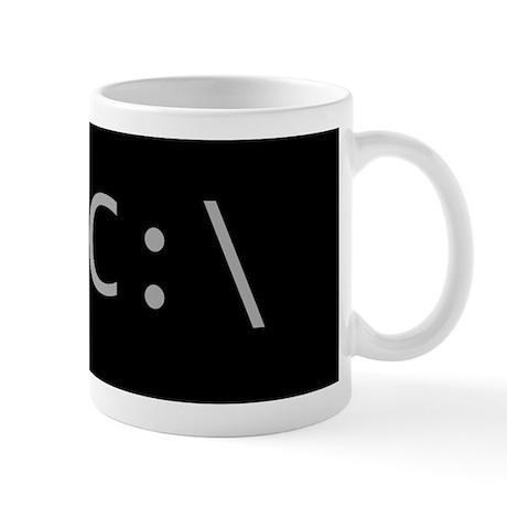 Classic MS-DOS C Drive Prompt on black Mug