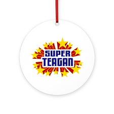 Teagan the Super Hero Ornament (Round)