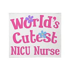 Worlds Cutest NICU Nurse Throw Blanket