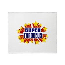 Thaddeus the Super Hero Throw Blanket