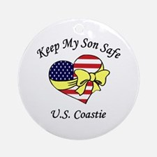 Coast Guard Mom & Dad Keep My Son Safe Ornament (R