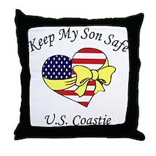 Coast Guard Mom & Dad Keep My Son Safe Throw Pillo