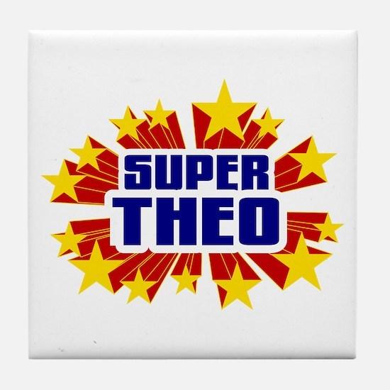 Theo the Super Hero Tile Coaster