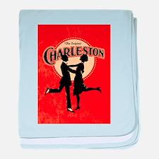 Vintage Charleston Music Art baby blanket