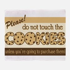 Retro Don't Touch The Cookies Throw Blanket