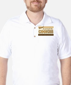 Retro Don't Touch The Cookies Golf Shirt