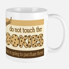 Retro Don't Touch The Cookies Mug