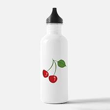 Retro Cherries Water Bottle