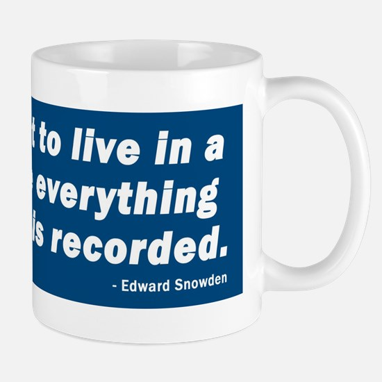 Edward Snowden Quote Mug