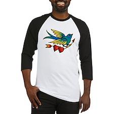 Tattoo Bird With Hearts On Arrow Baseball Jersey