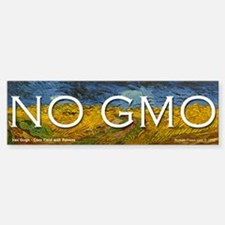 No GMO on a Van Gogh Bumper Bumper Bumper Sticker