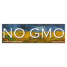 No GMO on a Van Gogh Bumper Bumper Sticker