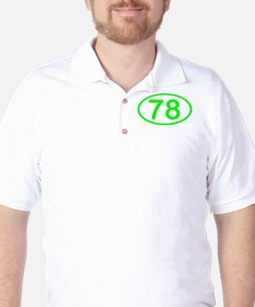 Number 78 Oval T-Shirt