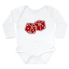 Retro Red Dice Long Sleeve Infant Bodysuit
