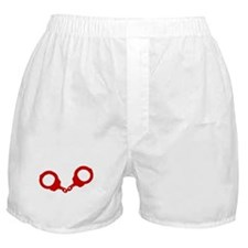 Red Handcuffs Boxer Shorts