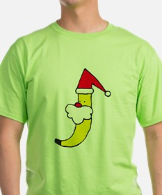 Santa Banana Cartoon T-Shirt