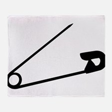 Safety Pin Graphic Throw Blanket
