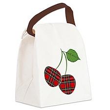 Punk Plaid Cherry Canvas Lunch Bag