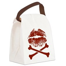 Kiss And Crossbones Canvas Lunch Bag