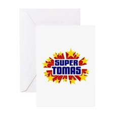 Tomas the Super Hero Greeting Card