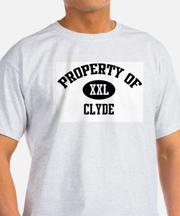 Property of Clyde Ash Grey T-Shirt