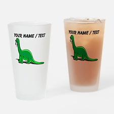 Custom Cartoon Dinosaur Drinking Glass